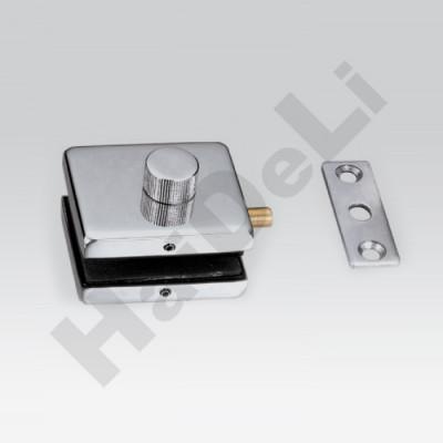 HDL-032 PSS Защёлка с поворотной головкой и ответной частью на стену (отделка: полированная нержавеющая сталь)
